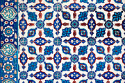 Flower Design Prints - Iznik 14 Print by Rick Piper Photography