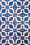 Flower Design Prints - Iznik 15 Print by Rick Piper Photography