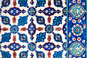 Ceramic Tile Prints - Iznik 16 Print by Rick Piper Photography