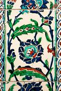 Ceramic Tile Prints - Iznik 20 Print by Rick Piper Photography