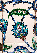 Ceramic Tile Prints - Iznik 21 Print by Rick Piper Photography
