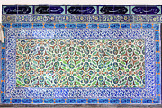 Tile Art - Iznik Ceramics with Floral Design by Artur Bogacki