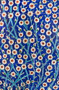 Topkapi Prints - Iznik tiles in Harem Topkapi Palace Istanbul Print by Ayhan Altun