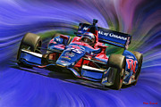 Indycar Series Prints - IZOD INDYCAR SERIES Marco Andretti  Print by Blake Richards