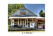 Historic Country Store Posters - J. A. Wall Store Poster by Terry Spencer