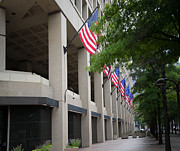 Fbi Prints - J Edgar Hioover FBI Building Print by Carol Ailles