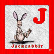 Abc Drawings - J for Jackrabbitt by Jason Meents