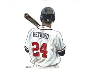 Baseball Art Framed Prints - J-Hey Kid Framed Print by Jason Yoder