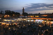 Souk Framed Prints - J ma Fna Place Marrakesh Framed Print by Sophie Vigneault