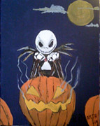 Nightmare Before Christmas Painting Prints - Jack Print by Brian Dearth