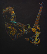Warwick Drawings Framed Prints - Jack Bruce live. Framed Print by Breyhs
