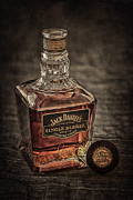 Bottles Posters - Jack Daniels Single Barrel Poster by Erik Brede