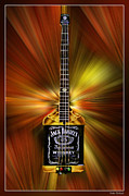 Blake Richards Framed Prints - Jack Daniels Whiskey Guitar Framed Print by Blake Richards