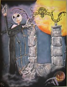 Nightmare Before Christmas Painting Prints - Jack Print by John Sodja