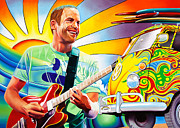 Trippy Painting Metal Prints - Jack Johnson Metal Print by Joshua Morton