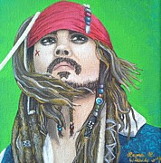 Captain Jack Sparrow Paintings - Jack by Laura Wiesch