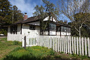Picket Fence Posters - Jack London Cottage 5D22122 Poster by Wingsdomain Art and Photography