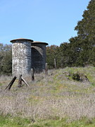 Granary Photos - Jack London Ranch Silos 5D22146 by Wingsdomain Art and Photography