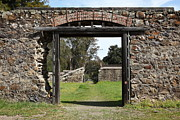 Stone Buildings Framed Prints - Jack London Ranch Winery Ruins 5D22128 Framed Print by Wingsdomain Art and Photography