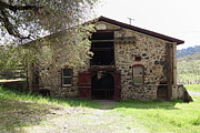 Vineyards Photos - Jack London Sherry Barn 5D22070 by Wingsdomain Art and Photography