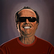 Cuckoo Painting Framed Prints - Jack Nicholson 2 Framed Print by Paul  Meijering