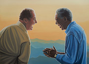Smart Paintings - Jack Nicholson and Morgan Freeman by Paul  Meijering