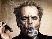 Jack Nicholson Print by Andrzej Szczerski