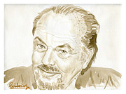Jack Nicholson Painting Originals - Jack Nicholson by David Iglesias