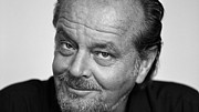 Movies Photo Framed Prints - Jack Nicholson Framed Print by Sanely Great