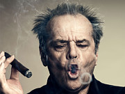 Movies Photo Metal Prints - Jack Nicholson Portrait Metal Print by Sanely Great