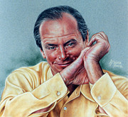 Jack Nicholson Portrait Print by Victor Powell