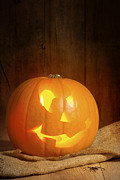 Candle Lit Posters - Jack O Lantern Poster by Christopher and Amanda Elwell