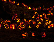 Jack-o-lanterns Photos - Jack-O-Lanterns by Inge Riis McDonald