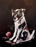 King James Framed Prints - Jack Russell II Framed Print by Anna Sandhu Ray