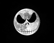Jack Skellington Moon Print by Al Powell Photography USA