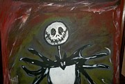 Nightmare Before Christmas Painting Prints - Jack Skellington Print by Tasha Rackley