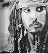 Sparrow Drawings Prints - Jack Sparrow Print by Christiane Rainey