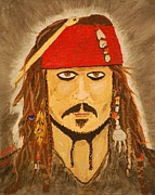 Savvy Framed Prints - Jack Sparrow Framed Print by Frank Middleton