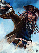 Scott Parker Metal Prints - Jack Sparrow Metal Print by Scott Parker