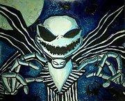 Nightmare Before Christmas Painting Prints - Jack Print by Vanessa Silva