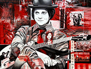 Musician Paintings - Jack White by Joshua Morton