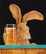 Beer Framed Prints - Jack with a beer back... Framed Print by Will Bullas