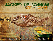 Lure Posters - Jacked up Minnow Print Poster by Greg Sharpe