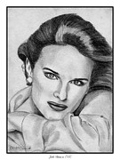 Makeup Drawings Posters - Jacki Adams in 1986 Poster by J McCombie