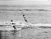 Jackie & John Glenn Water Ski Print by Underwood Archives