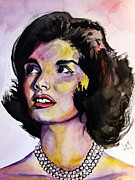First Lady Drawings Framed Prints - Jackie O Framed Print by Lambert Aaron