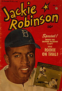 Jackie Digital Art Framed Prints - Jackie Robinson Framed Print by J Morgan Massey