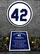 Jackie Robinson Photos - Jackie Robinson Tribute Yankee Stadium by Amy Cicconi