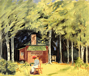 Mid West Landscape Art Posters - Jacks Cabin 1945 Poster by Art By Tolpo Collection