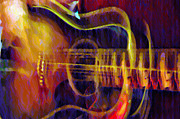 Jamming Prints - Jacks Guitar Print by Bill Cannon